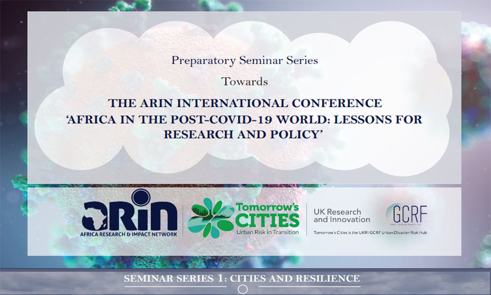 Preparatory Seminar Series 1: Cities and Resilience