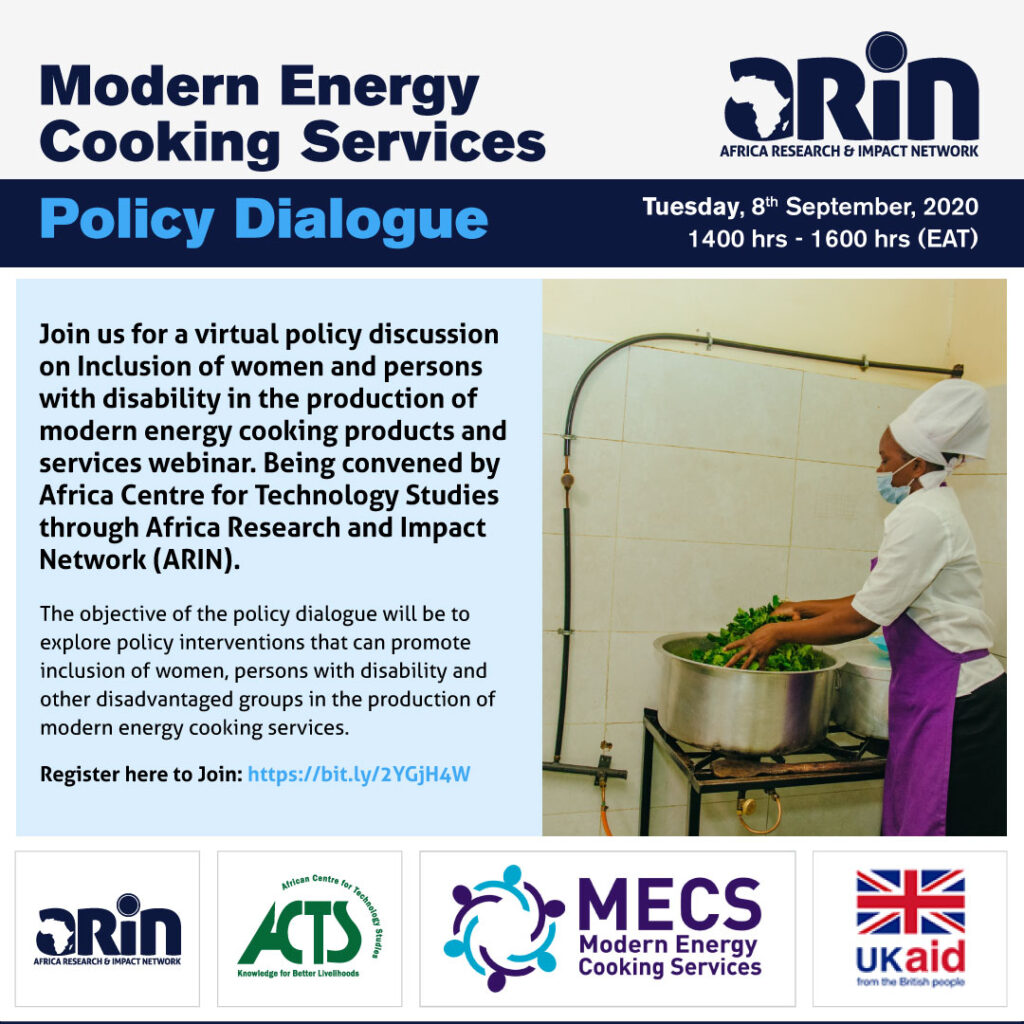Policy Dialogue on Inclusion of Women and Persons With Disability in the Production of Modern Energy Cooking Products and Services(MECS).
